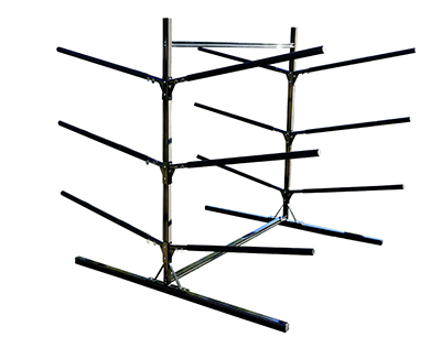 Inddor & Outdoor Heavy Duty Free Standing Rack Holding 6 Kayaks
