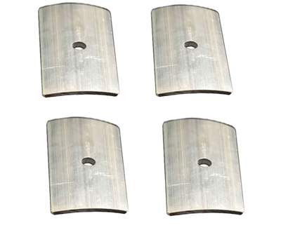 Curved rectangle backing plate 3in x 6in (4pcs)