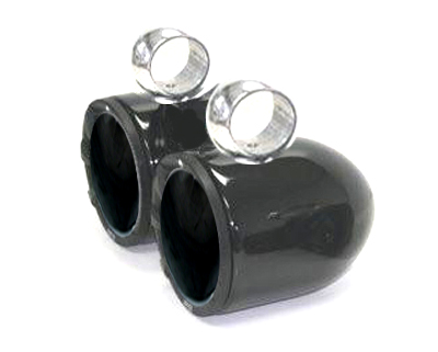 6 1/2in Aluminum Bullet Speaker Black Pods In Pair